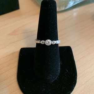 Silpada sterling silver & cubic zirconia ring